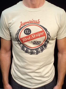 c5388904a8 Red Stripe Beer t-shirt vintage jamaica lager tan* | eBay | My Guy ...