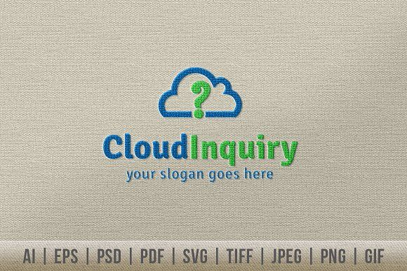 Cloud Inquiry Logo Templates It¡¯s Good Looking Simple logo - inquiry template