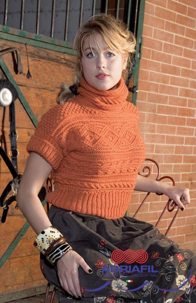 Orsa Minore Mini Pullover In Adriafil Regina Free Knitting Pattern