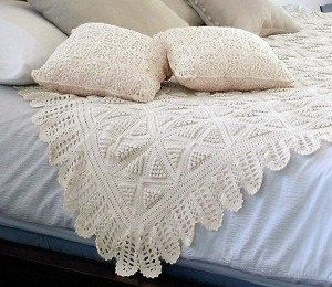 Crochê Renda Roupa de Cama Jogo do Fundamento Afegão. / Crochet Lace Linens Game Afghan Foundation.