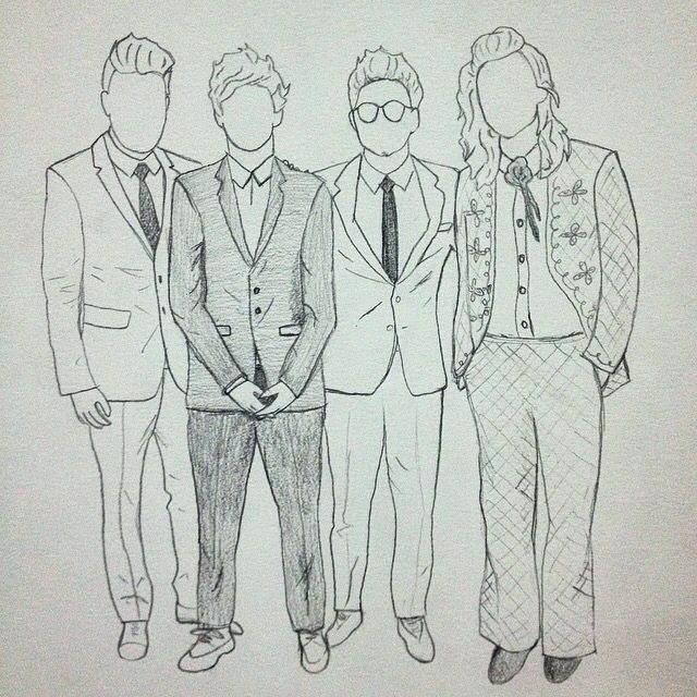 One Direction Ama Outline Drawing One Direction Drawings One Direction Art One Direction Fan Art