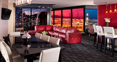 Premier Suite At The Elara Hotel By Hilton Grand Vacations Hd Home Theater 15 In Tv In Bathroom Elara Las Vegas Vegas Hotel Suites Las Vegas Hotel Suites