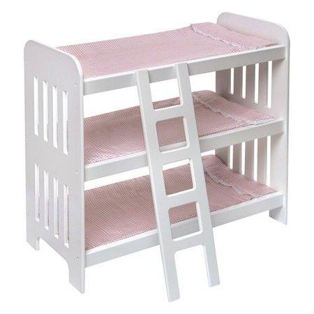 Badger Basket Triple Doll Bunk Bed with Ladder : Target $34