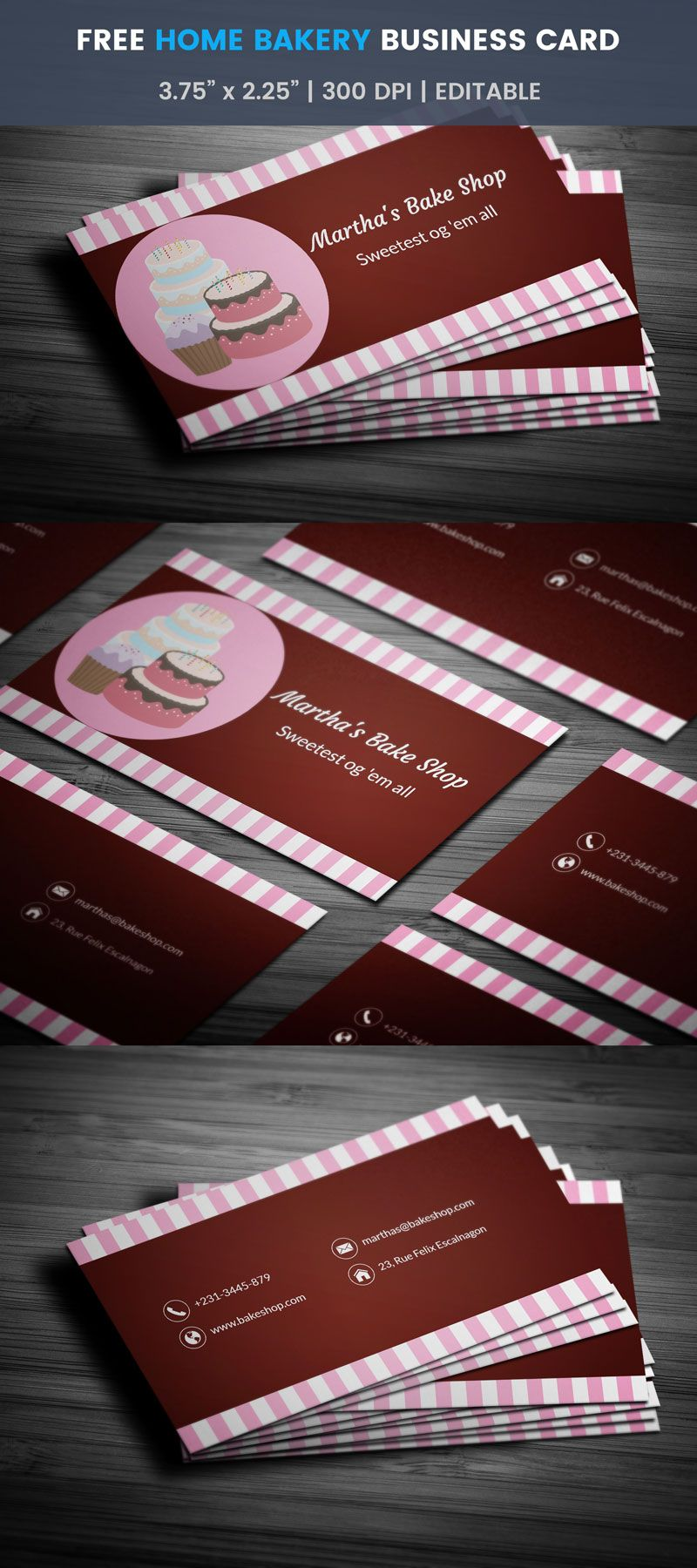 Pink home bakery business card template full preview free bakery pink home bakery business card template full preview reheart Gallery