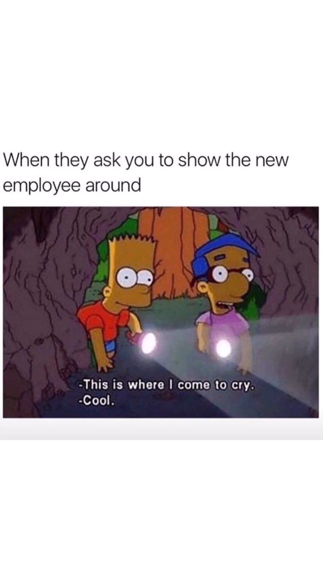 """Bart Simpson Meme """"This is where I go to cry"""" Simpsons"""