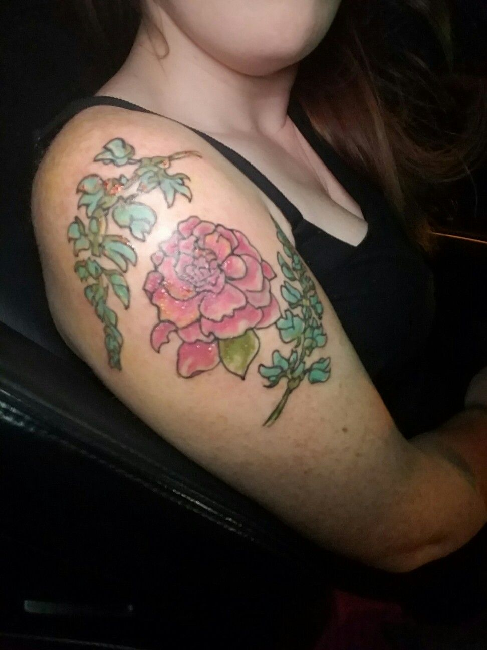The Texas Bluebonnets For Me And The Alabama Camellia For My Daughter Tattoos Blue Bonnets Flower Tattoo