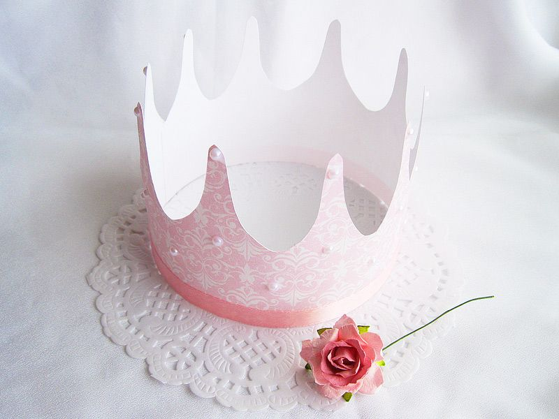 Prinzessin basteln Anleitung und Schablone für Krone Einladung