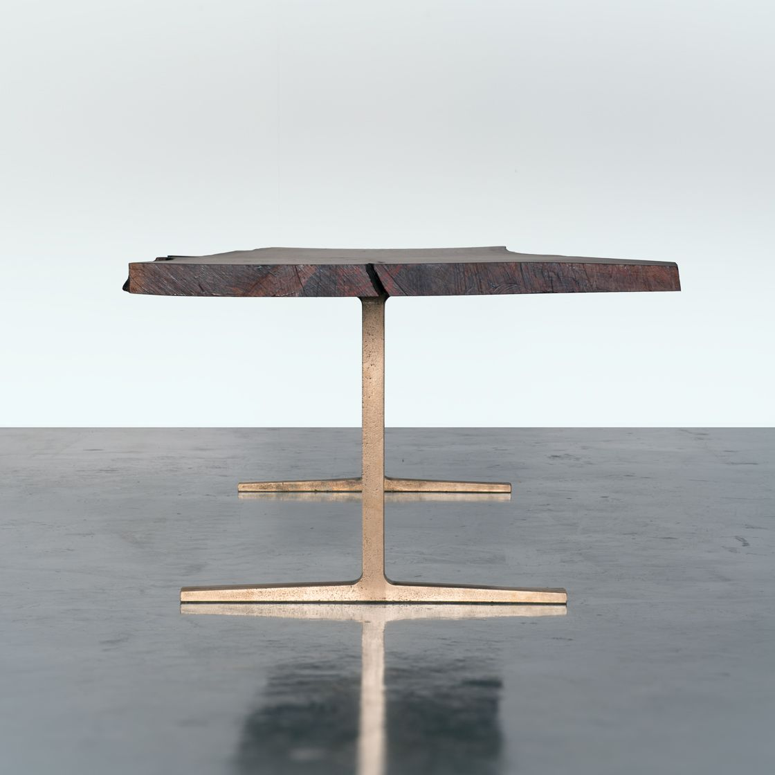 Bronze Coventry Base with Walnut Slab Top