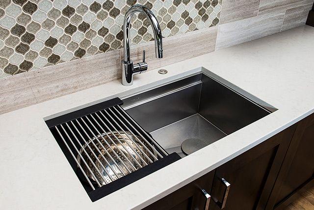 The Galley Iws3 Double Ledge Zero Radius Stainless Undermount Small Sink Workstation Sink
