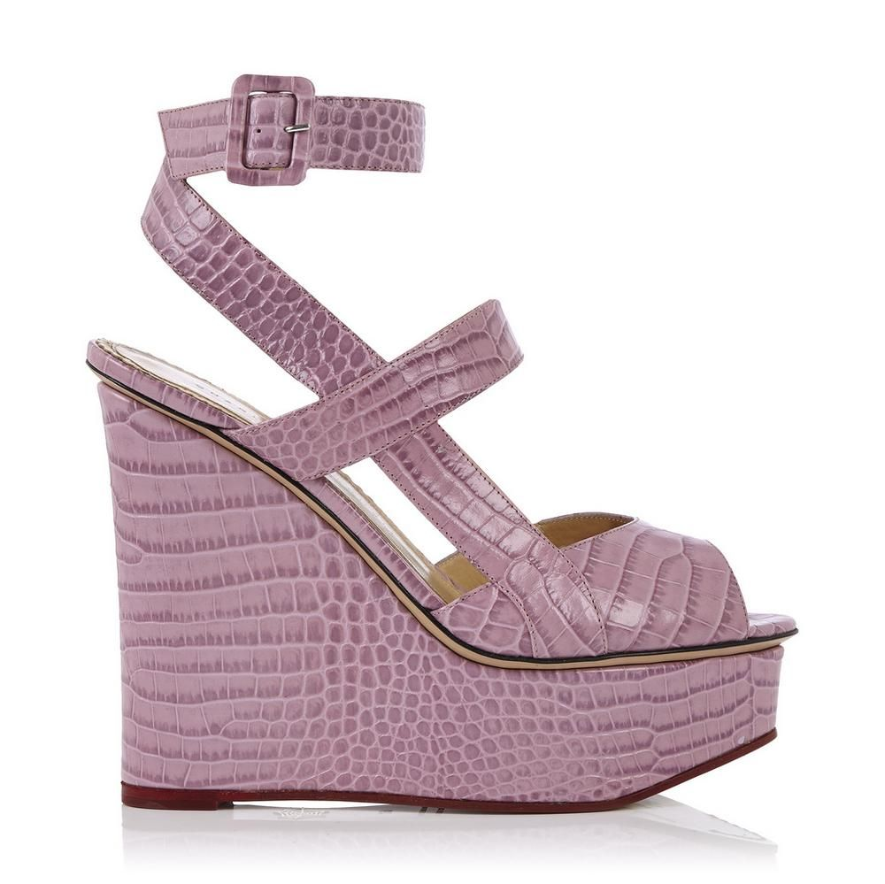 da345c248b09c Give your Autumn styles a chic and feminine boost in this 130mm wedge sandal .