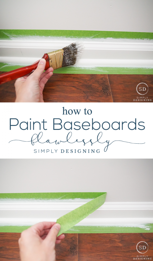 How To Paint Trim Without Messing Up Your Walls And Floors Painting Baseboards Painting Trim Baseboards