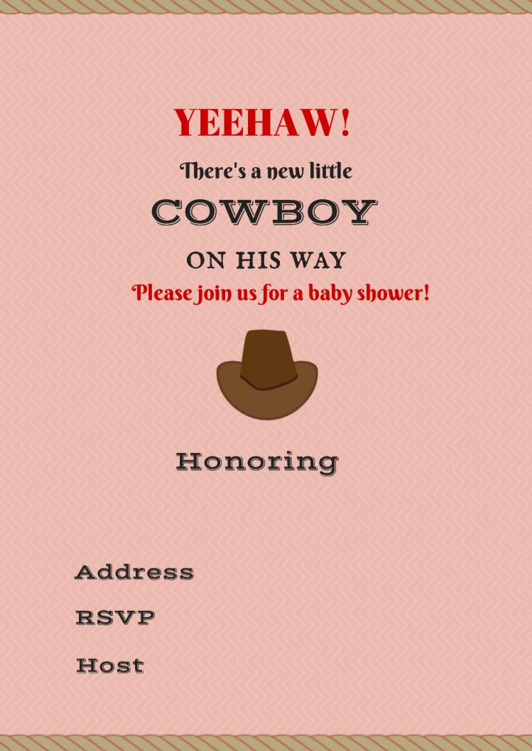 Free Printable Baby Shower Invitations - Boy - Girl - Nautical - Shower - Rain - Umbrella - Cowboy - Cowgirl #babyshowerideas Baby shower ideas for boy or girl