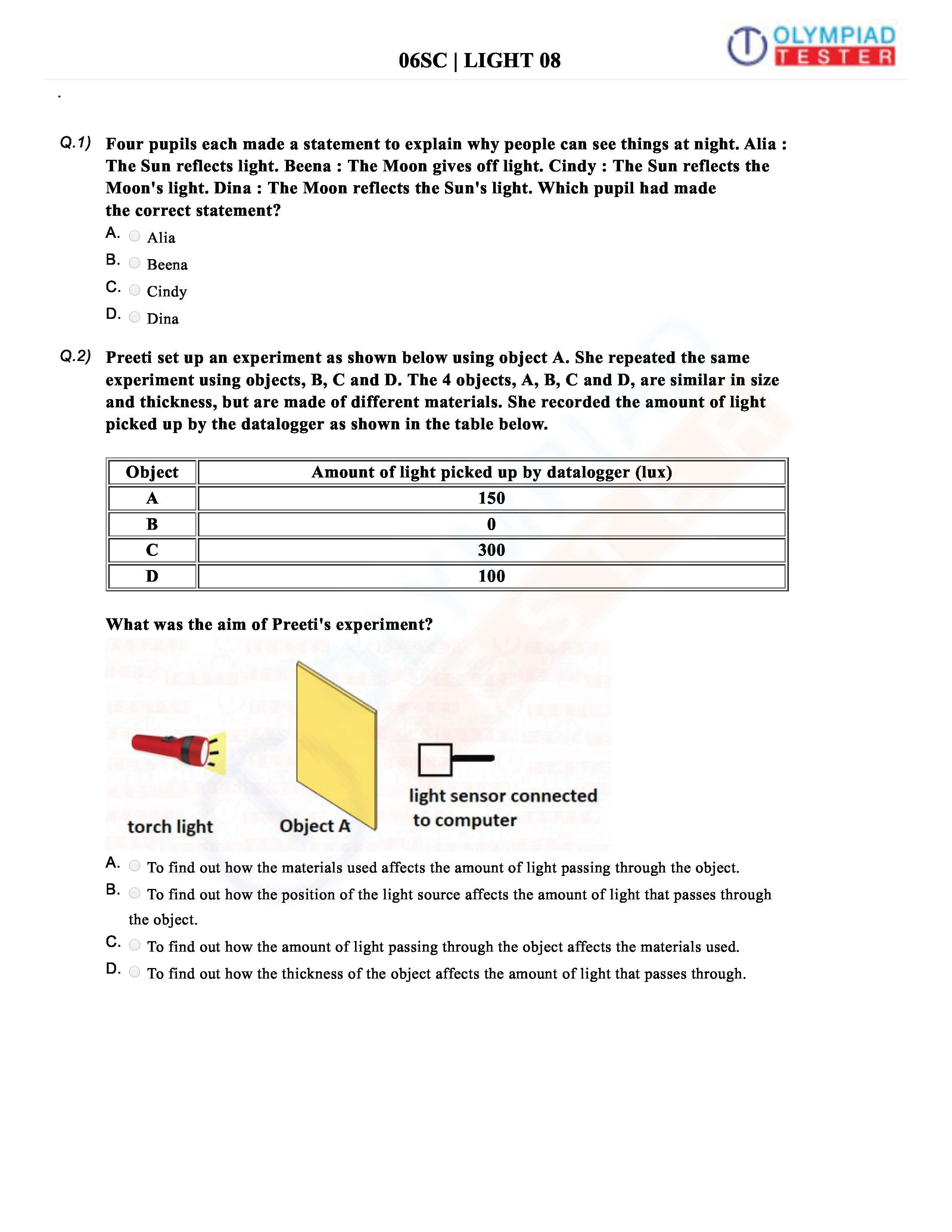 Grade 3 Cbse Science Worksheets
