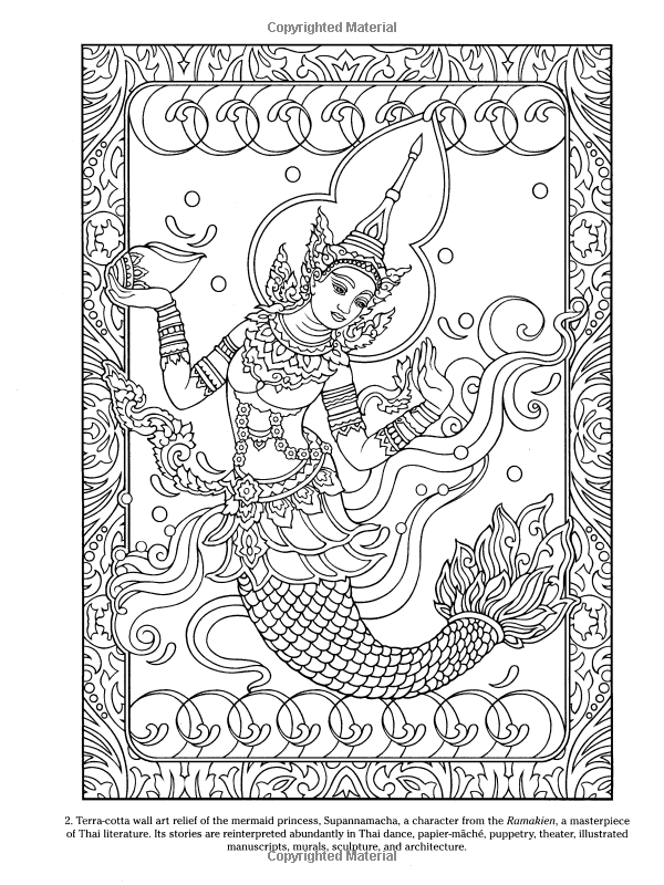 Thai Decorative Designs (Dover Design Coloring Books): Marty Noble ...