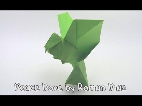 63 origami peace dove by roman diaz yakomoga origami