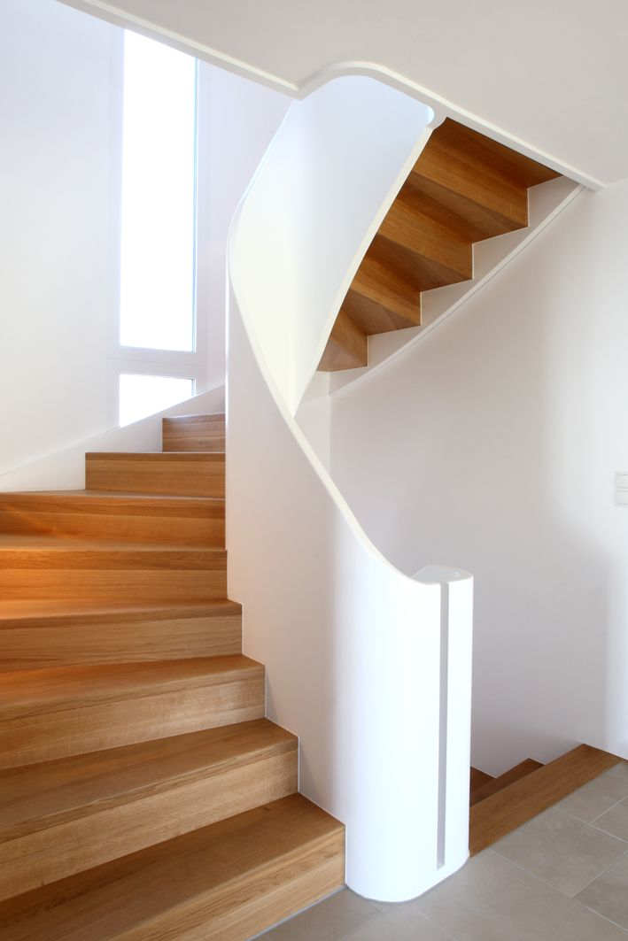 Geländer Treppe Haus Geschwungene Treppe Gewendelte