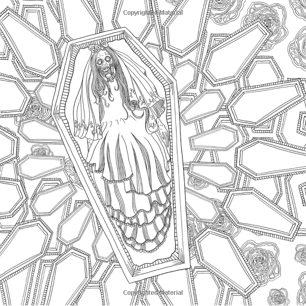 The Beauty Of Horror 1 A Goregeous Coloring Book Amazon Ca Alan Robert Books Coloring Books Halloween Coloring Pages Coloring Pages