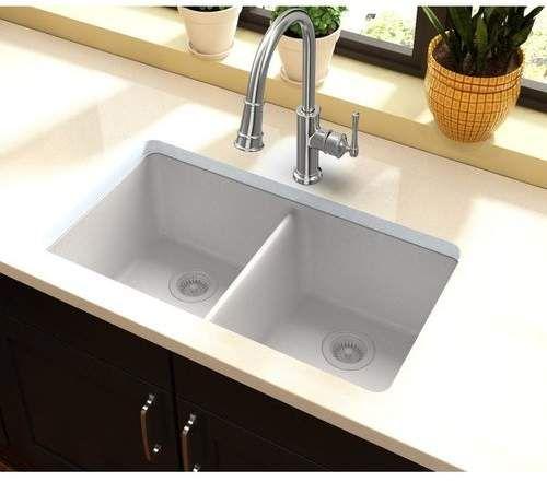 Quartz Classic 33 L X 19 W Double Basin Undermount Kitchen Sink Drop In Kitchen Sink Top Mount Kitchen Sink Kitchen Remodel 33x19 drop in kitchen sink