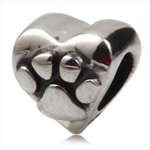 SAVE $17.5 - Dog Paw #Print Authentic 925 Sterling Silver Bead Fits Pandora Charms Bracelets $18.49