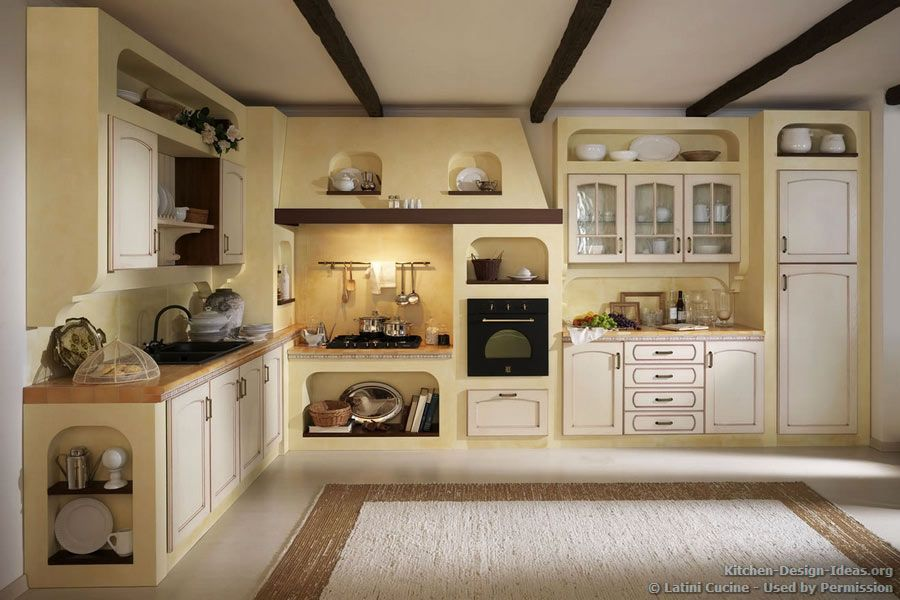 #Kitchen Idea of the Day: An antique-style Italian kitchen ...