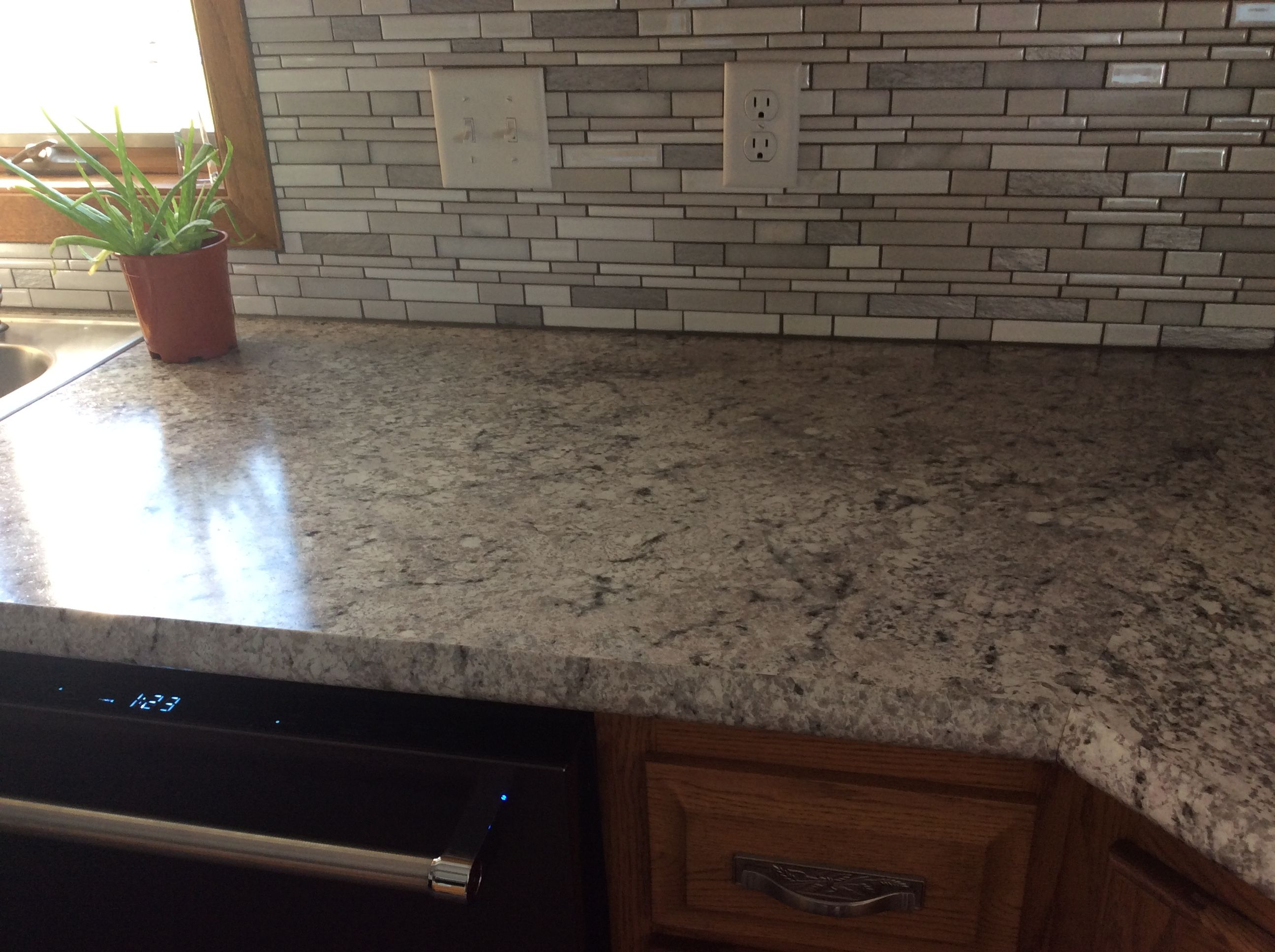 Countertop Formica Argento Romano With Ideal Edge Backsplash Ms