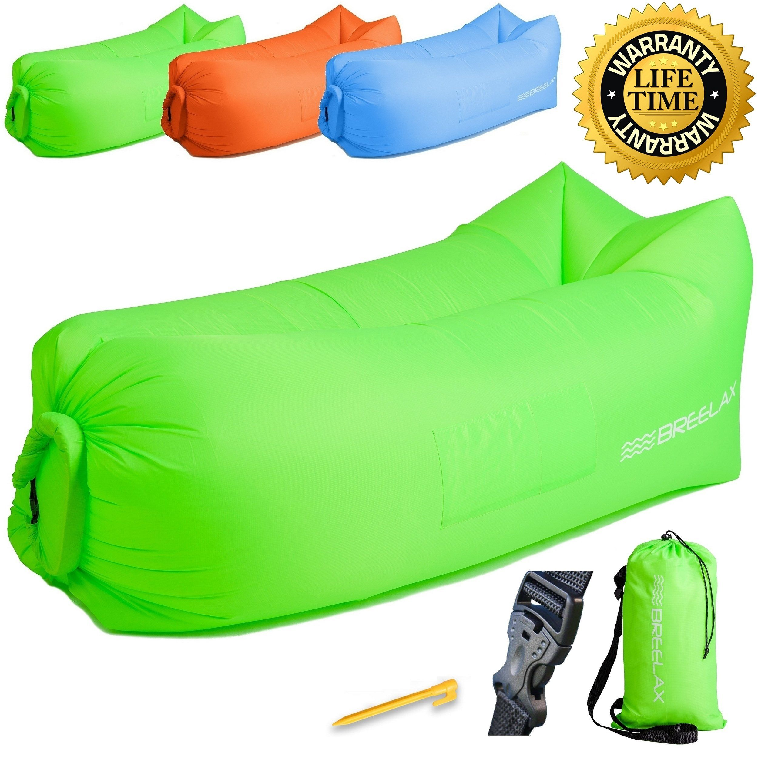 Cecle Outdoor Partable Inflatable Lounger Air Hangout Bag Lazy Inflatable Sofa Banana Sleeping Bag T Inflatable Sofa Inflatable Sofa Bed Inflatable Lounger