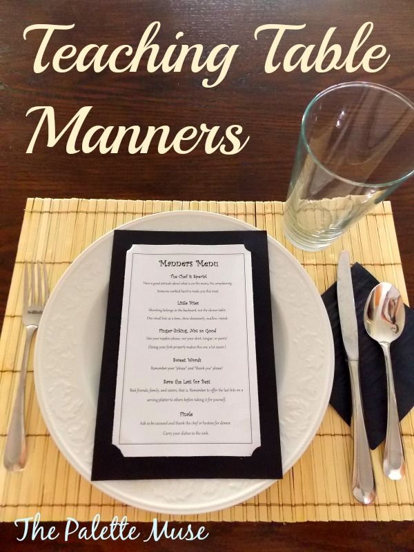 Teaching Table Manners - the fun and easy way, with printable! thepalettemuse.com