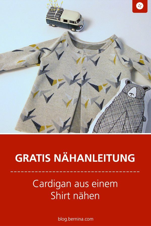 Wie man ein Shirt in einen Cardigan umwandelt » BERNINA Blog #keinekleidungnähen