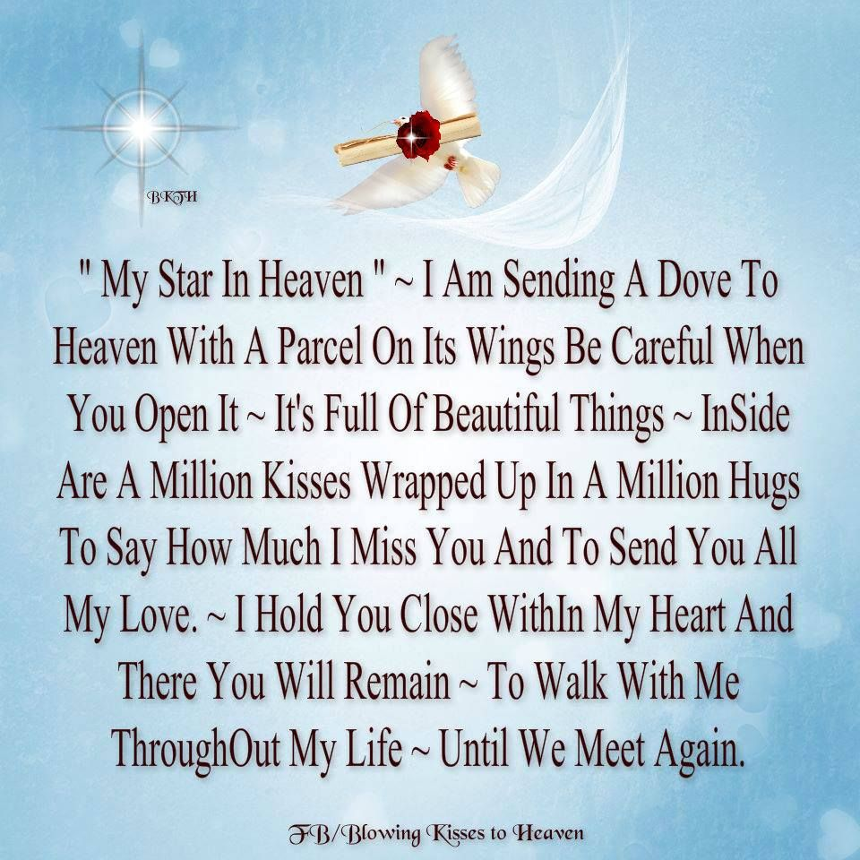 My Star in Heaven Missing you Pinterest Heavens and Poem