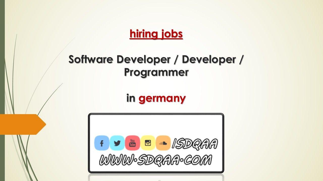 hiring jobs Software Developer / Developer / Programmer in