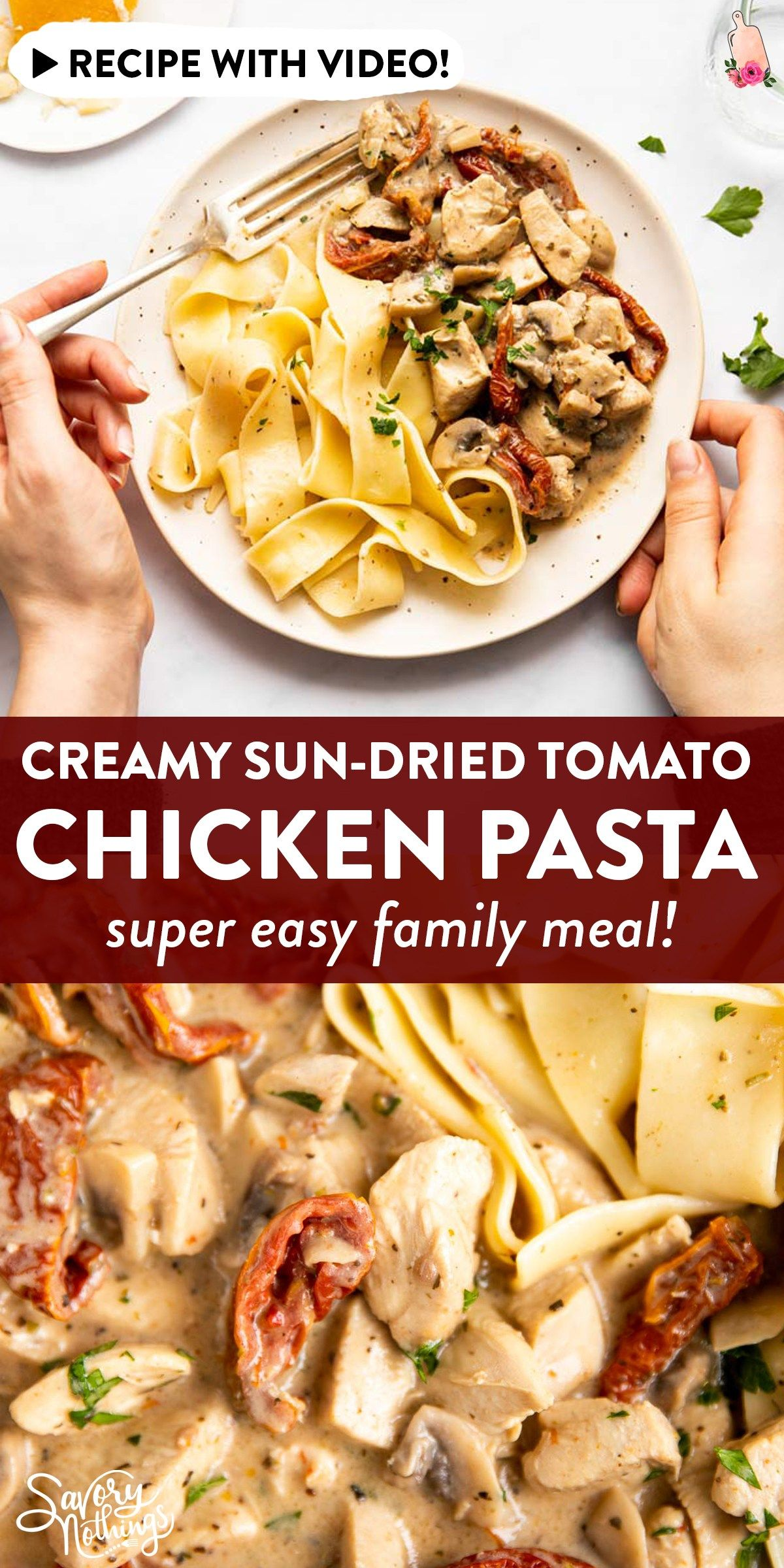 This is an easy recipe for diced chicken in a creamy sauce ...