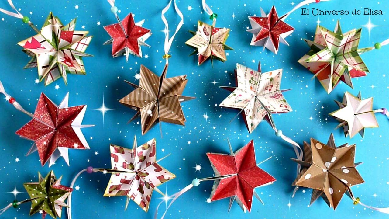 Decoraci n para navidad c mo hacer estrellas de papel for Decoraciones navidenas faciles de hacer