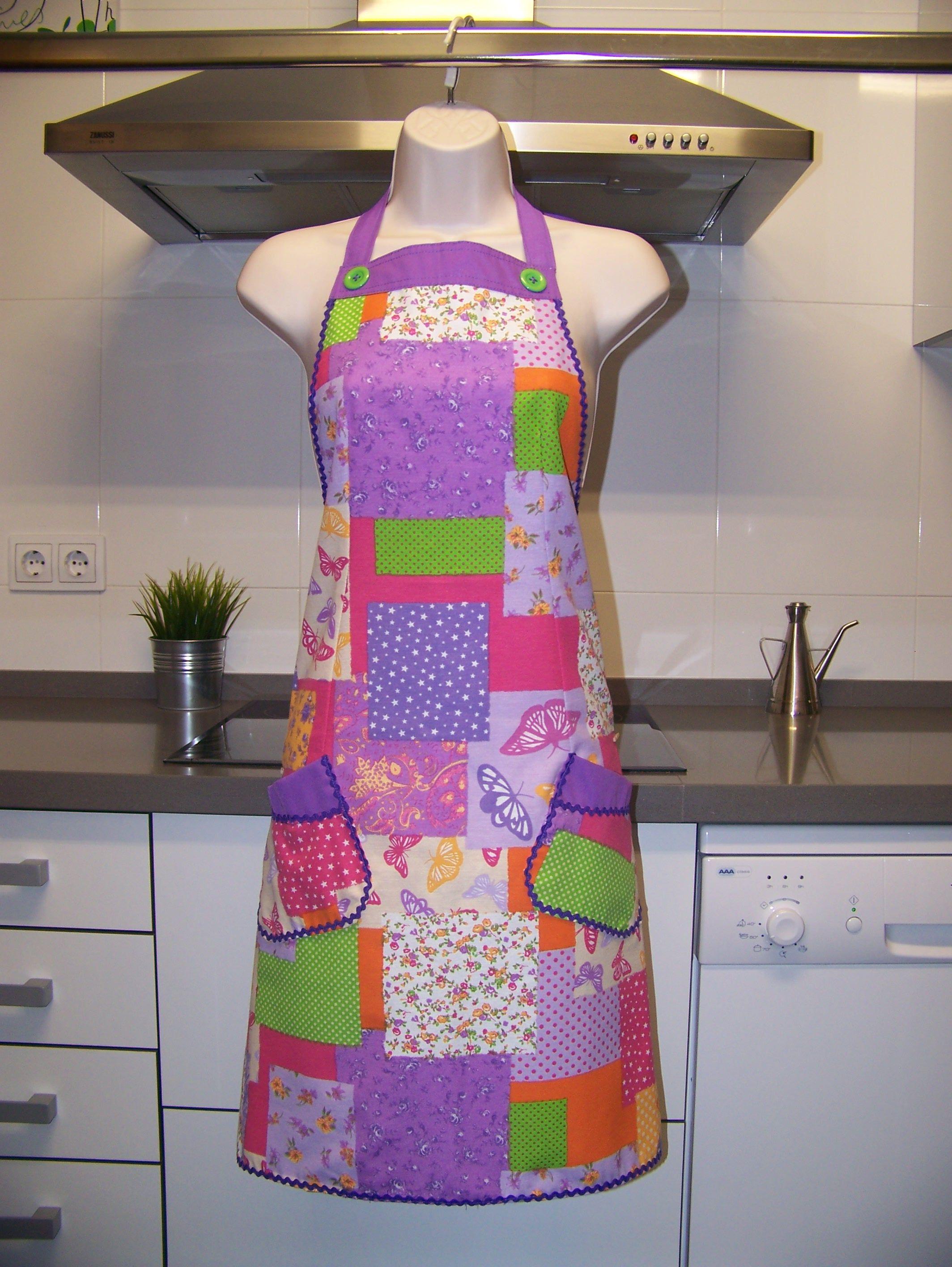 Delantales de dise o para mujer artesanos varios colores - Colores para una cocina ...