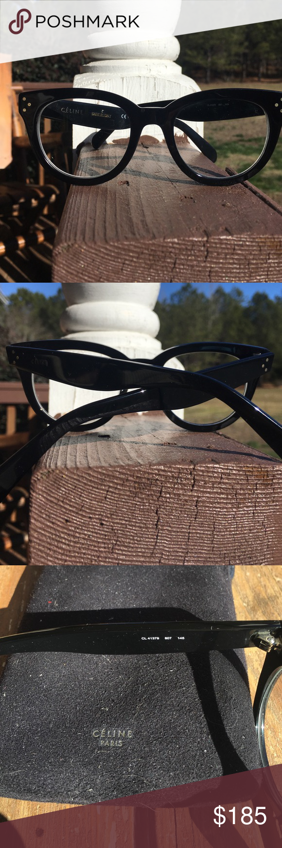 41a539d58a00 CELINE ANNA CL 41379 EYEGLASSES Absolutely on the fence about letting these  go...Amazing pair of authentic Celine ANNA eyeglasses in black gold  hardware.