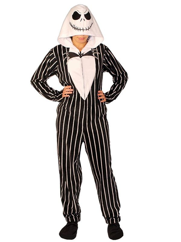 bbcb9c655c Jack skellington footed pajamas....I need these.....