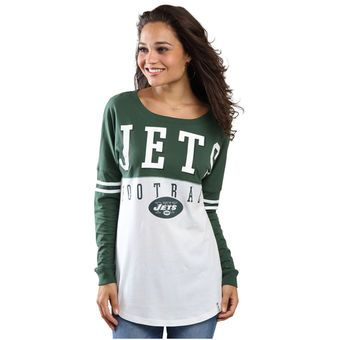 New Era New York Jets Women s White Baby Jersey Spirit Long Sleeve T-Shirt c7df59fa61