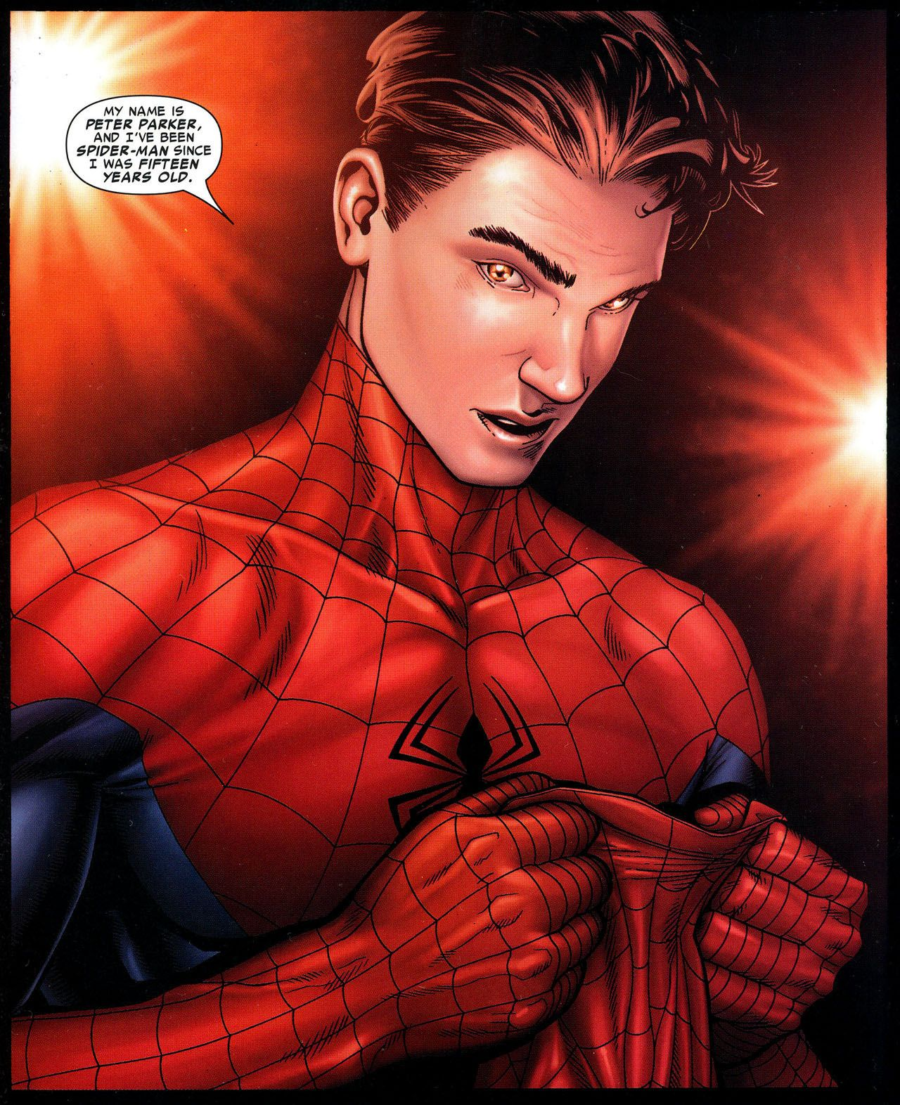Spider-man Unmasked! By far this is the greatest moment from
