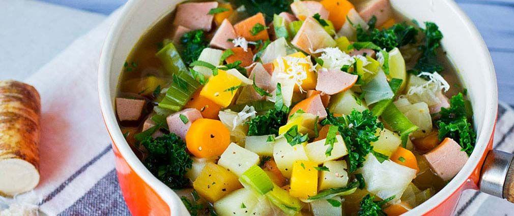 Bilde av grønnsaksuppe «rett i kroppen»