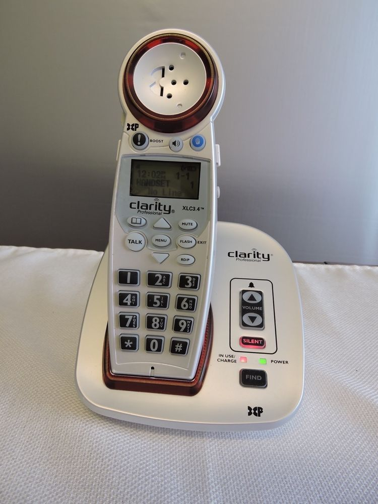 CLARITY XLC34 Amplified Cordless Telephone 70255 For The Hard of