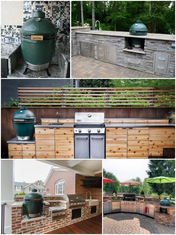 charcoal grill big green egg outdoor kitchen essentials backyard kitchen backyard outdoor on outdoor kitchen essentials id=57694