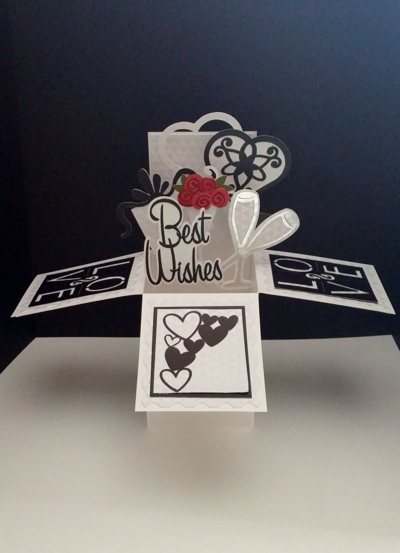 3 D Anniversary Wedding Pop Up Box Card Gift Card Holder Etsy Pop Up Box Cards Card Box Shaped Cards