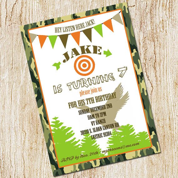 Duck Hunting Party Invitation