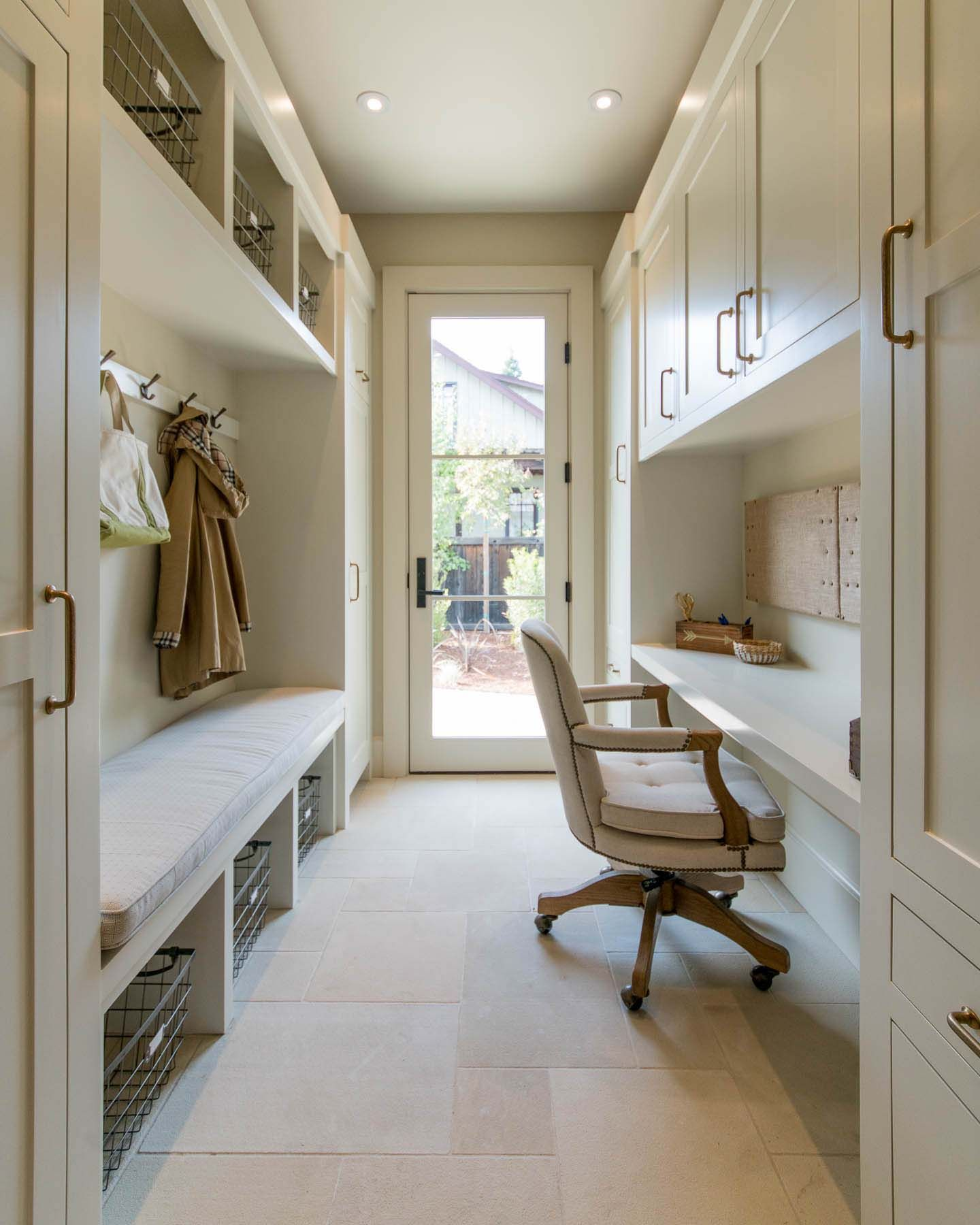 Delightful Contemporary Farmhouse Takes Shape In California Wine Country Mudroom Laundry Room Hallway Designs Home