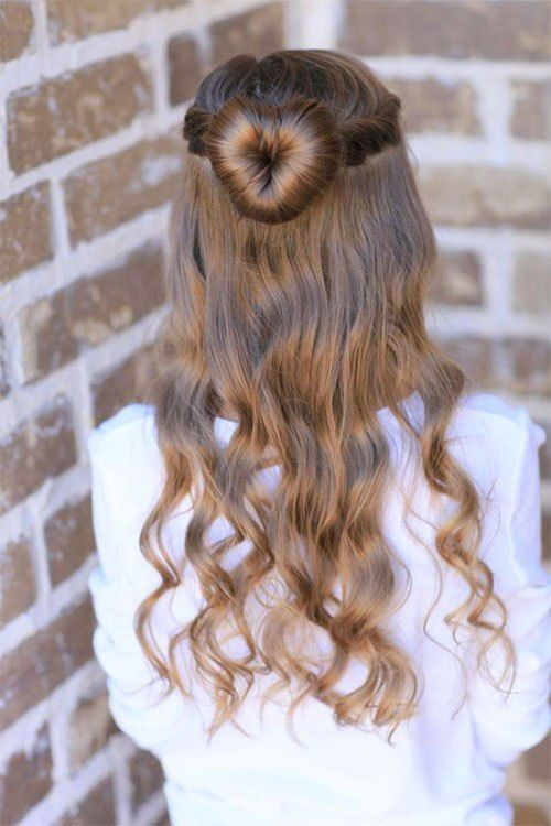 Who doesn't #love Valentine's Day #hairstyles? These cute #heart hairstyle is one you're sure to #fall in love with!