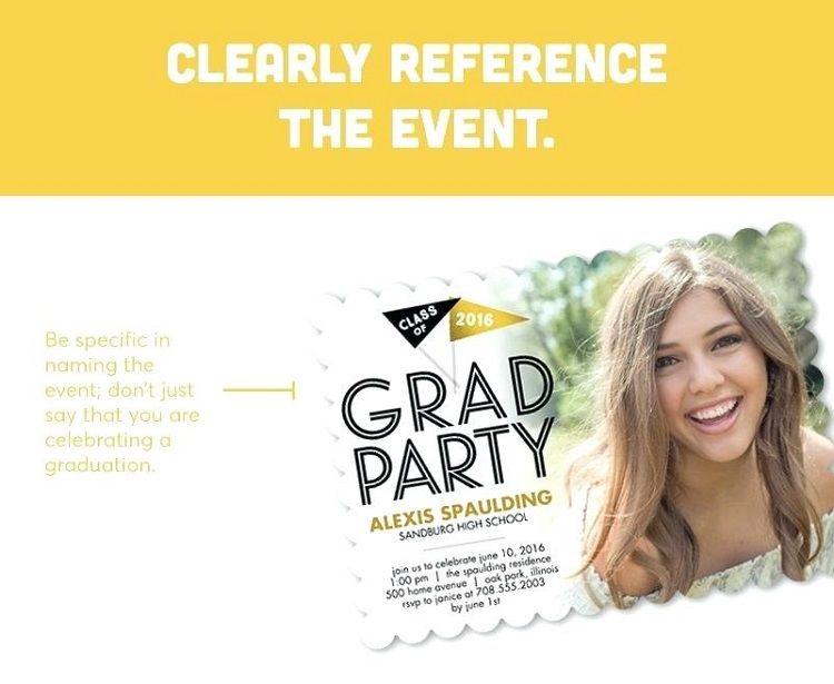 Graduation Party Invitation Wording High School