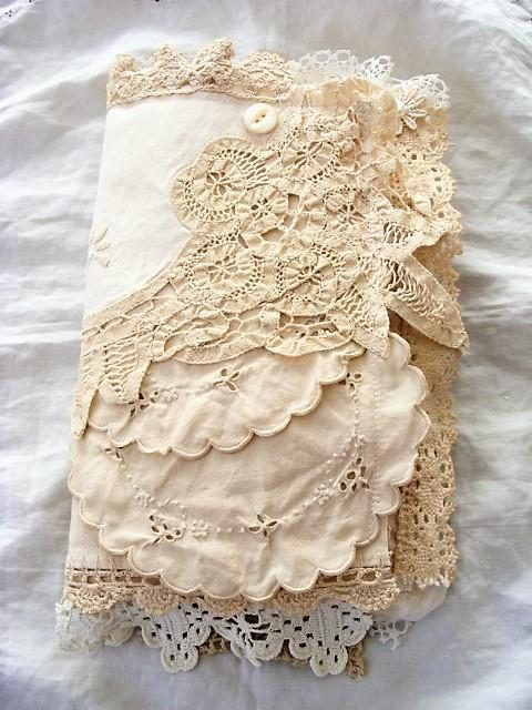 Vintage Fabric And Lace Journal Handmade Mixed Media Book Handmade Books Handmade Journals Lace Crafts