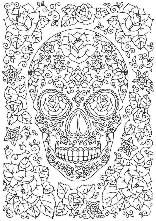iColor quot Sugar Skulls quot Garden of