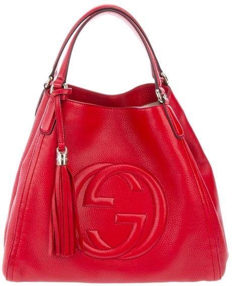 882241170 Reversible GG Medium Tote | Fashion in Red | Gucci soho bag, Gucci ...