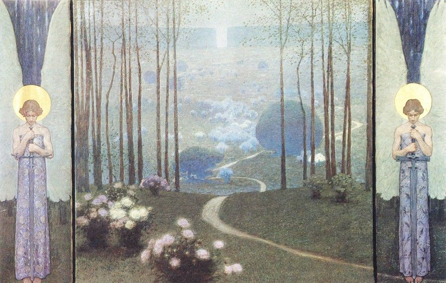 Image result for gates of paradise paintings