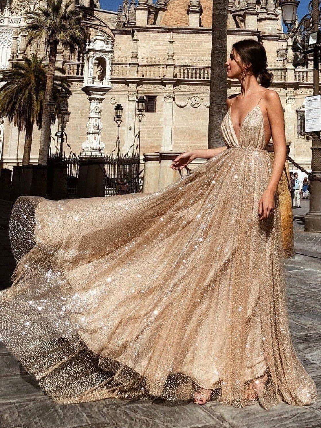 e4f3c8ebc5 Sexy Gold V Neck Sequined Maxi Dresses  shopforselection  beautiful   bohemia  cute  clothing  design  life  amazing  happy  style